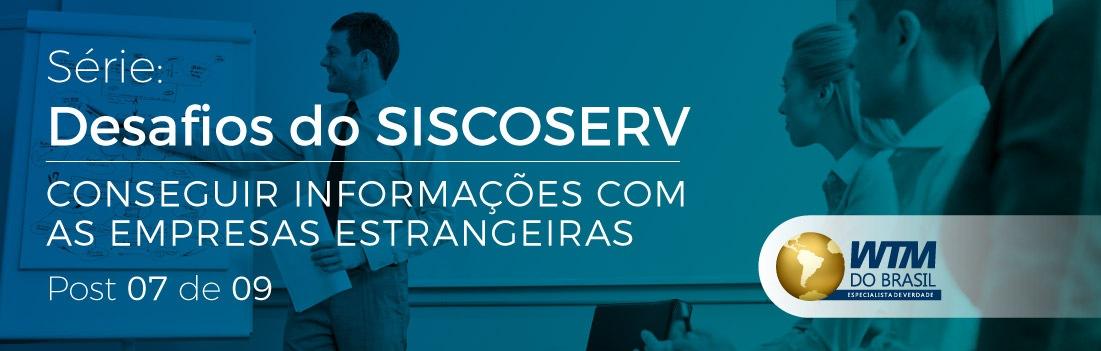 Siscoserv: Conseguir informações com empresas estrangeiras